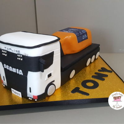 Lorry And Jack Daniels Cake For A Huddersfield Customer