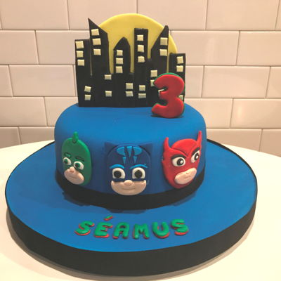 Séamus's 3Rd Birthday Pj Masks Cake This is the second birthday cake made during a visit from Ireland to Charlotte NC USA September 2017...to celebrate my grandsons 1st and...