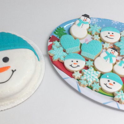 Snowman Fondant Cake Decorating Photos