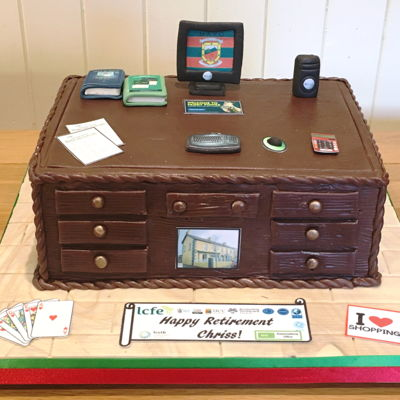 Teacher's Desk Retirement Cake