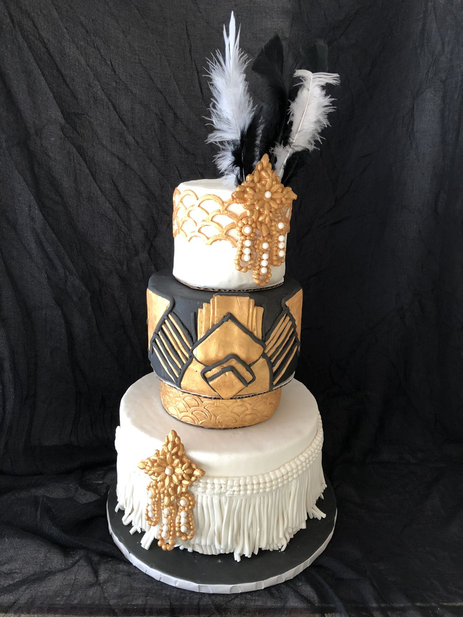 Art Deco / Great Gatsby Birthday Cake on Cake Central