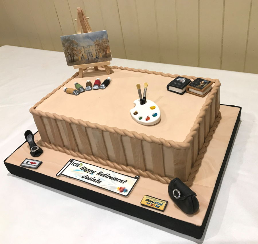 Art Teacher's Retirement Cake on Cake Central