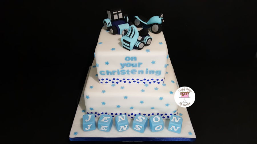 Christening Cake For A Huddersfield Customer on Cake Central