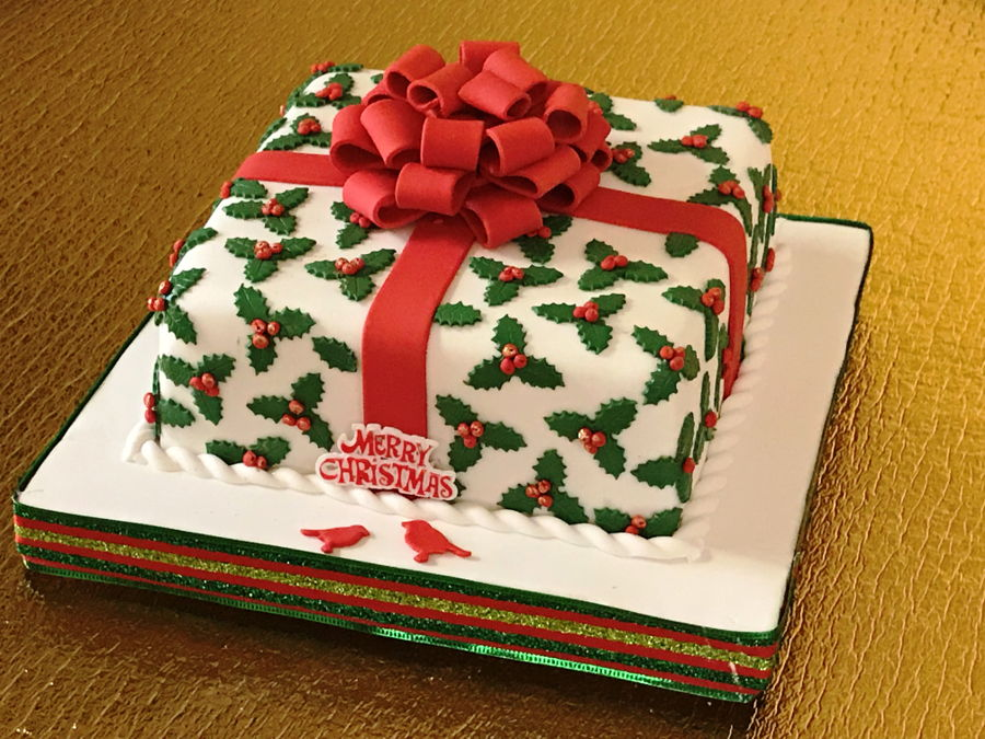 Christmas Gift Cake on Cake Central