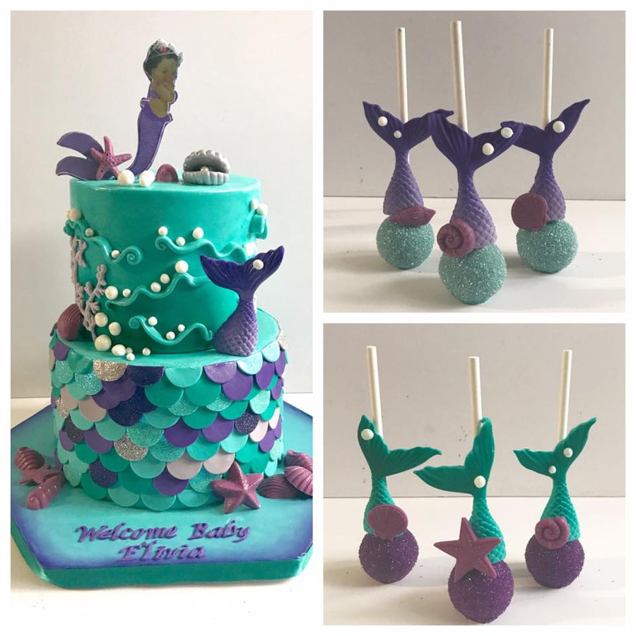 Awesome Mermaid Baby Shower Cake On Cake Central