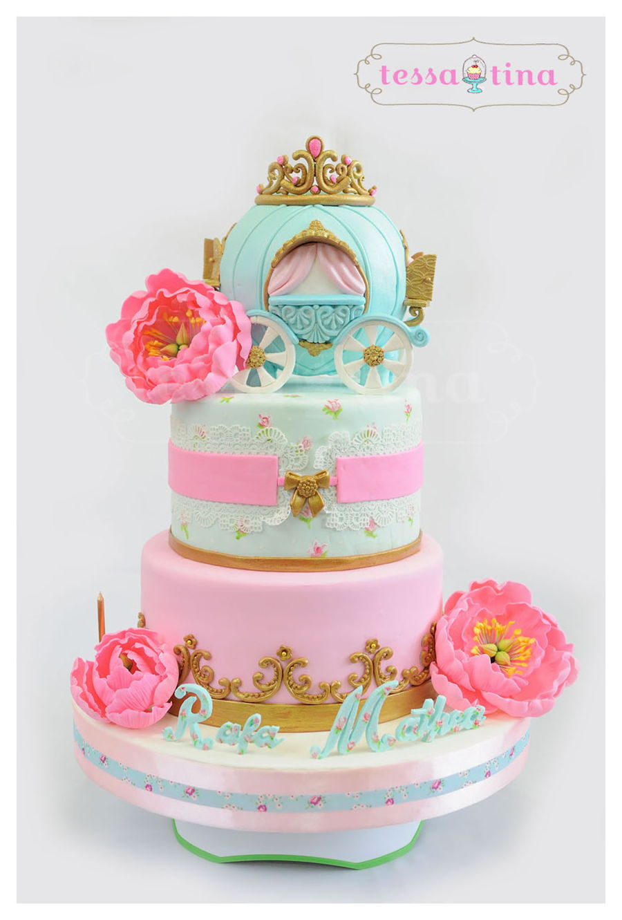 Princess Shabby Chic Cake on Cake Central