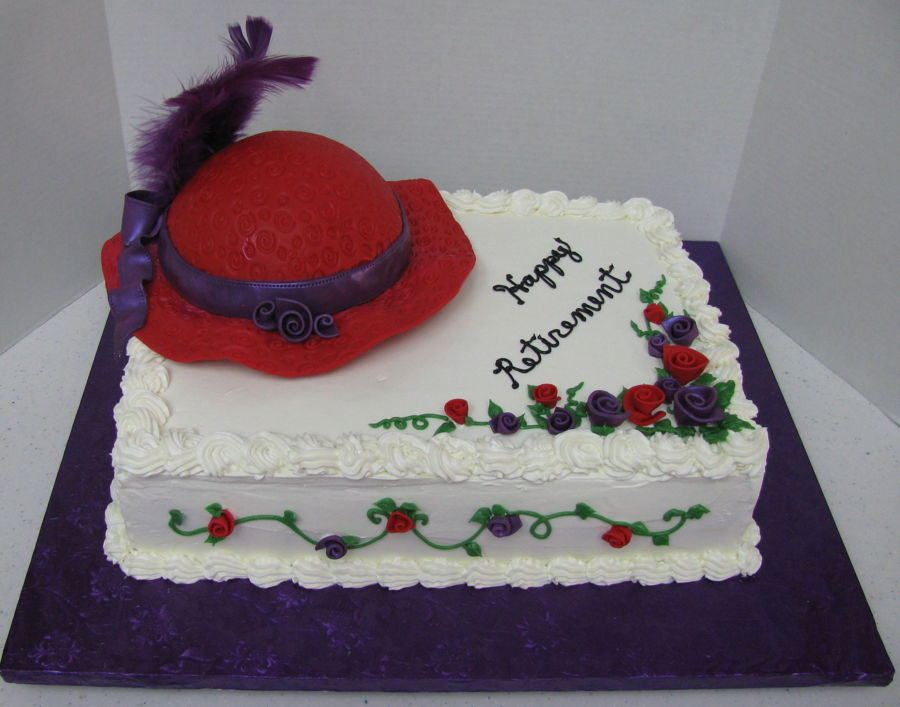 Red Hat Society on Cake Central