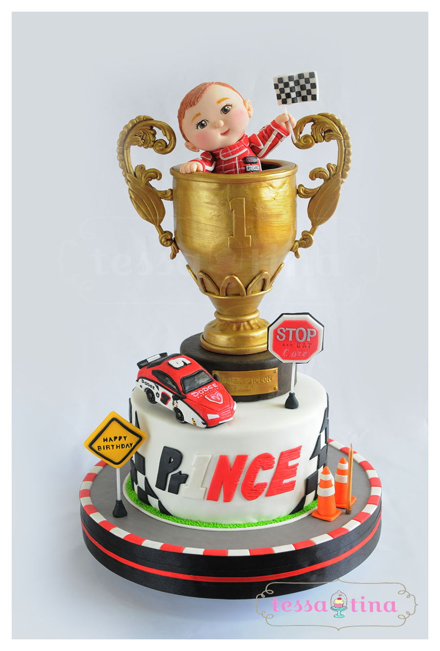 Trophy Car Race Cake on Cake Central