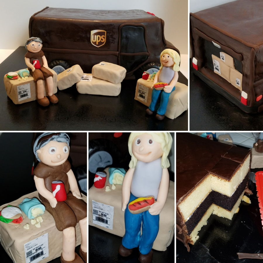 Ups Truck on Cake Central