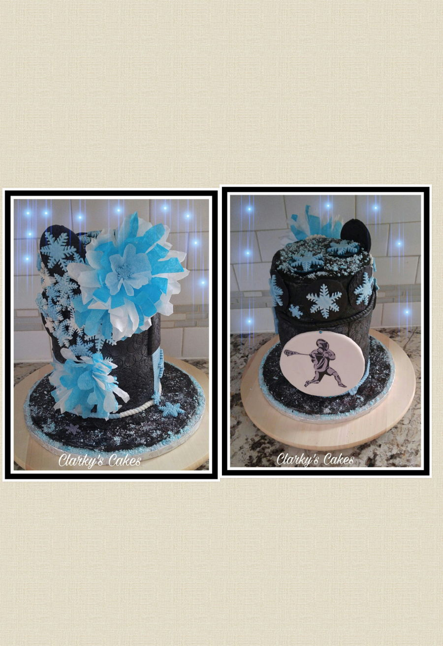 Winter Themed Birthday Cake Cakecentral