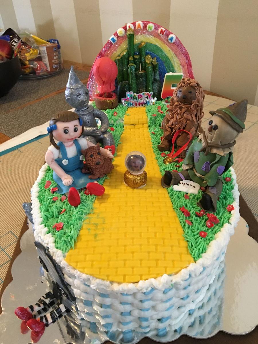 Fantastic Wizard Of Oz 5Th Birthday Cake Cakecentral Com Funny Birthday Cards Online Bapapcheapnameinfo