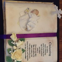 Christening Book This Christening Book was done for a baby event in Franklin TN this past Saturday, Jan 27th. This is 1 of 4 cakes I presented at the event...