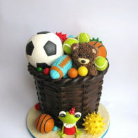 Toy Storage Basket A birthday cake for a boy who loves balls...