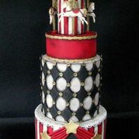 Vintage Circus All they want was a clown :D simple vintage cake with a clawn <3