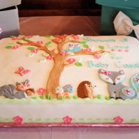Woodland Baby Shower Cake Fiona Fox and friends baby shower cake