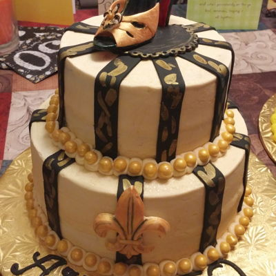 Enjoyable New Orleans Cake Decorating Photos Personalised Birthday Cards Cominlily Jamesorg