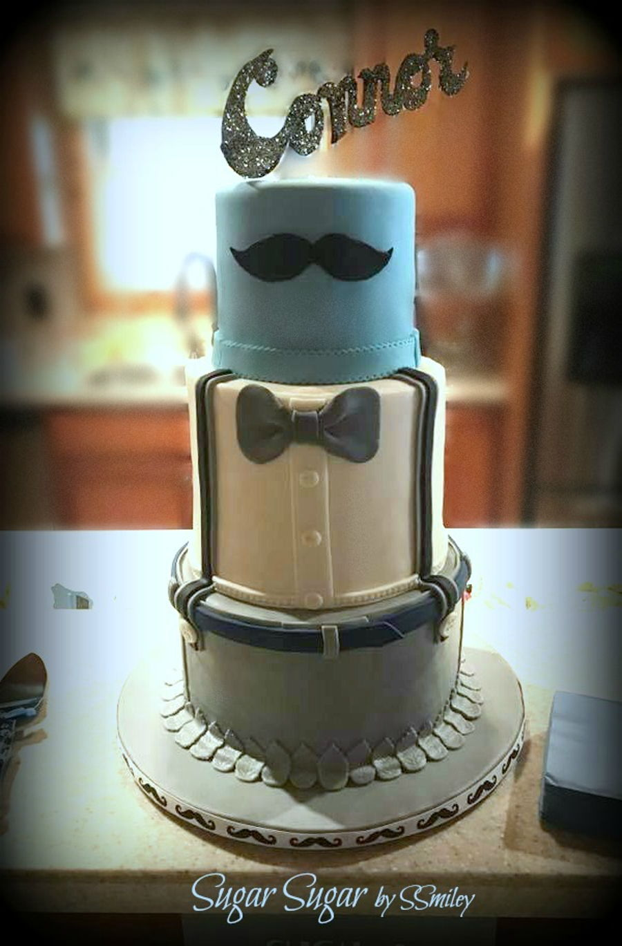 Baby Shower Moustache Cake Cakecentral