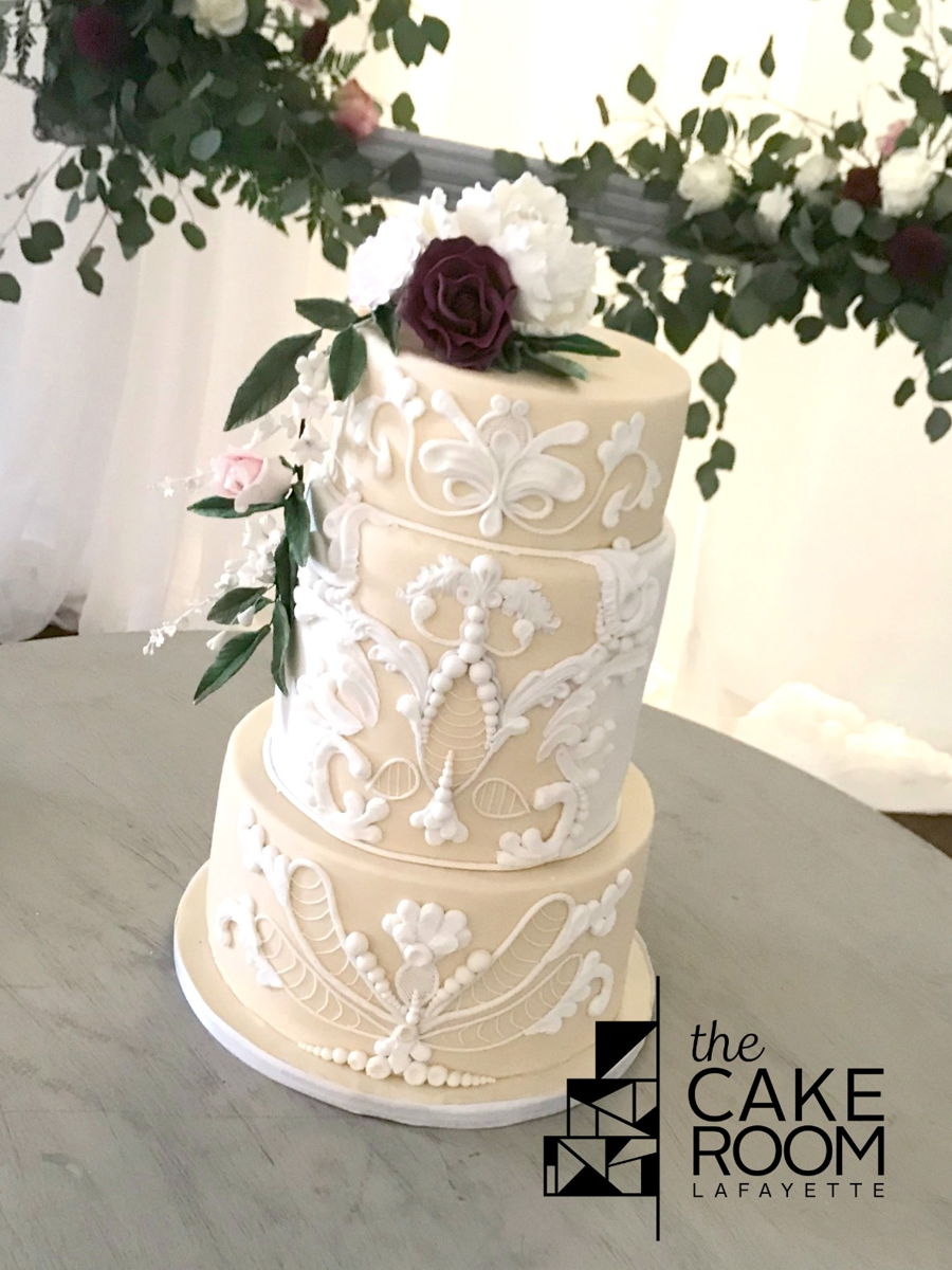 Garden Wedding Cake on Cake Central