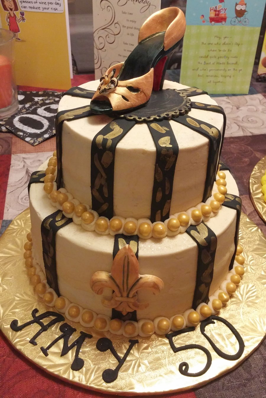 Miraculous New Orleans Saints Bling Cakecentral Com Personalised Birthday Cards Sponlily Jamesorg