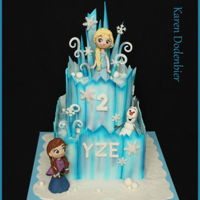 Anne And Elsa Cake My frozen cake with Anne and Elsa