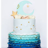 Baby Shower Cake.. Twinkle-2 little star baby shower cake !