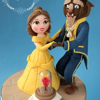 Beauty & The Beast Cake Topper Made for a customer making her own cakes.