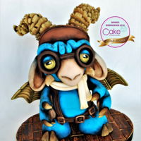 Cake International Birmingham 2016 Grumpy - Gold Medal I did this little guy back in 2015, but he got damage in the transportation from Portugal to England and he didn't enter the...