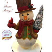 Cake International Birmingham 2016 Snowman - Gold Medal I do love Christmas, this was my piece for The Christmas Exhibit Class. TFL Ana Remígio