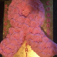 Cancer Ribbon Theme Cake Made this Cancer Ribbon in memory of my sister Maribel... and donated the cake to the Clark Family Breast Cancer Association for their...