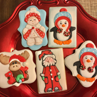 Christmas Cookies used airbrush, stencil