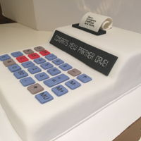 Congrats Cake For New Accounting Parner Funfetti with buttercream and fondant