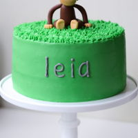 Curious George Birthday Cake curious george birthday cake with handmade fondant topper
