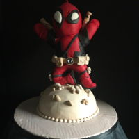 Dead Pool Theme Cake Made this cake for my nephew he truly loves watching Dead Pool.