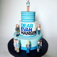 Dear Evan Hansen Cake Dear Evan Hansen cake commissioned for the opening night party. Features all 8 principal actors from the original broadway cast, including...