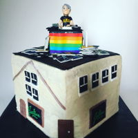 Dj Cake Cake featuring John Cameron Mitchell DJ'ing at Julius Bar in NYC. Cake was commissioned to celebrate John's birthday as well as...