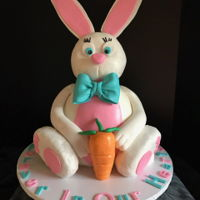 Easter Bunny Theme Cake Made this Easter Bunny in memory of my friends son.. He loved Easter, and what better way to celebrate the holiday in his memory....