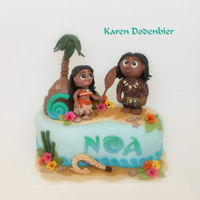 First Moana Cake I had two Moana cakes o the same day. A lot of work but I loved making the.