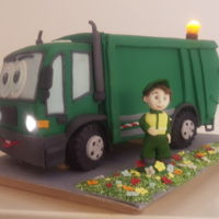 Garbage Truck Cake Birtday chocolate cake for Lovro's 2nd birtday, by his choice.