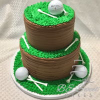 Golf Cake Two tier golf cake.