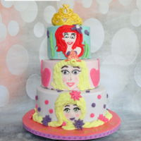 I Am A Princess A cake for my babygirl who loves the princesses of Disney. Ariel, Rapunzel and Aurora in one cake!