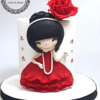 Lady In Red This cake is a new proyect for a workshop I´m delivering soon. I hope you like it!
