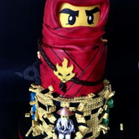 Lego Ninjago This cake I made with little help from my friend Antonia Lazarova <3