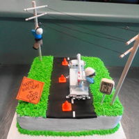 Linemen A Linemen cake I made for a birthday and celebration from linemen training.