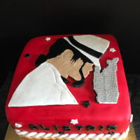 Micheal Jackson Theme Cake I was asked to make this cake for a friend son that loves Micheal Jackson