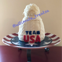 Olympic Ski Hat Cheering on the USA with a Ski Hat Cake!