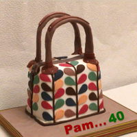 Orla Kiely Inspired Handbag Cake I made this handbag cake for my daughter-in-law Pam's 40th Birthday. I was inspired by the original leaf pattern by designer Orla...