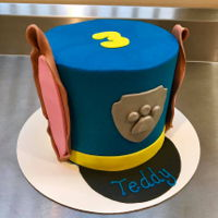 Paw Patrol Police Hat Cake Buttercream with fondant detail Paw Patrol cake for a 3rd birthday