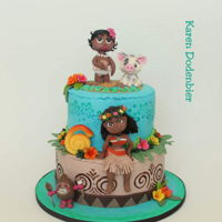 Second Moa A Cake A lot of work but I loved making this cake. I had two and I wanted to make them totally different!
