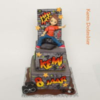 Street Dance Cake Loved making this cake.