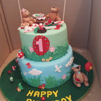 Teddy Bears Picnic Birthday Birthday cake
